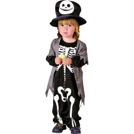 Disfraz Bebé Esqueleto Talla M