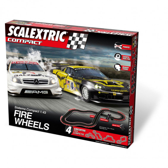 Scalextric Circuito Compact Fire Wheels 5,00 m