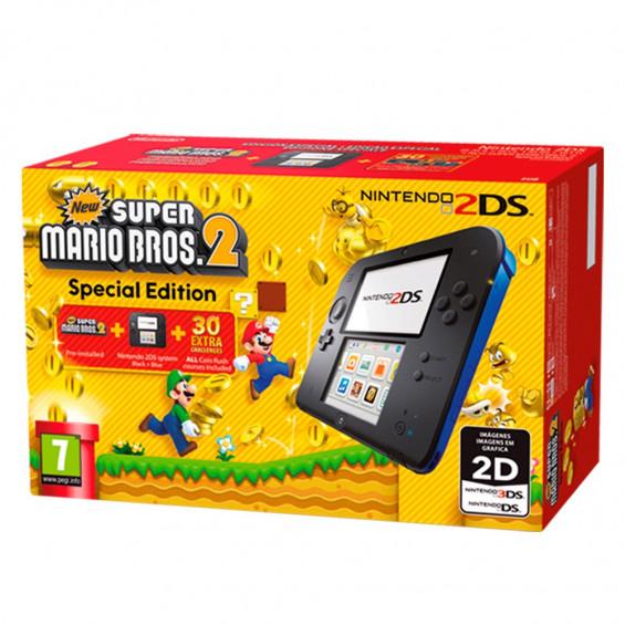 N2DS Consola HW Azul + Juego Mario Bros 2 Preinstalado