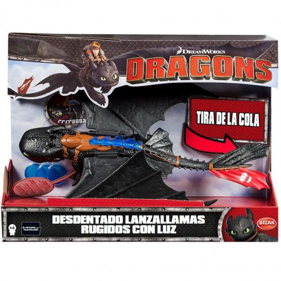 Dragones de Berk Dragón Desdent Rugidos Lanzallamas con Luz