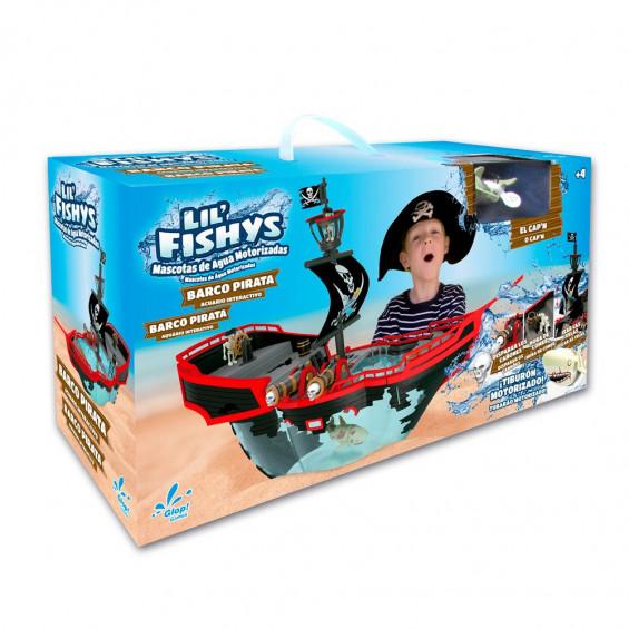 Lil Fishys Playset Acuario Barco Pirata