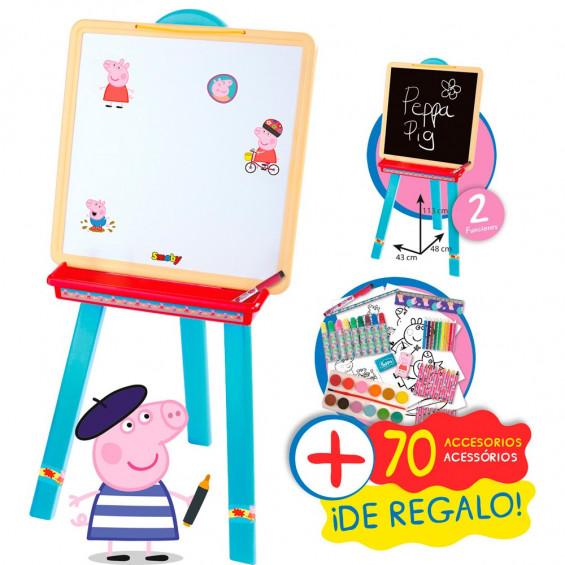 Peppa Pig Pizarra + Set Coloring