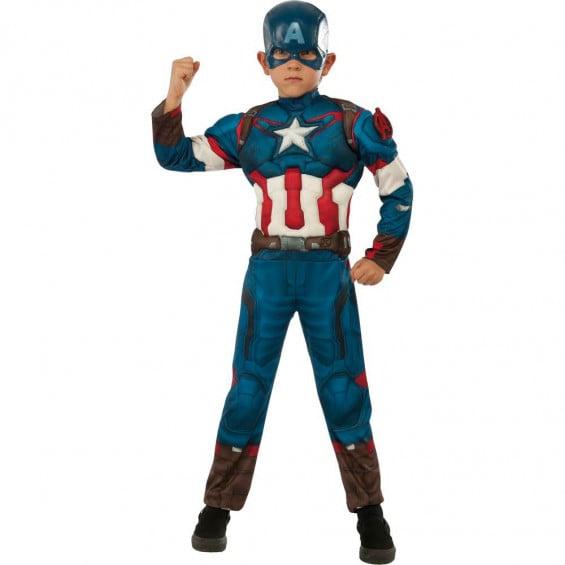 Disfraz Niño Capitán America Deluxe AA