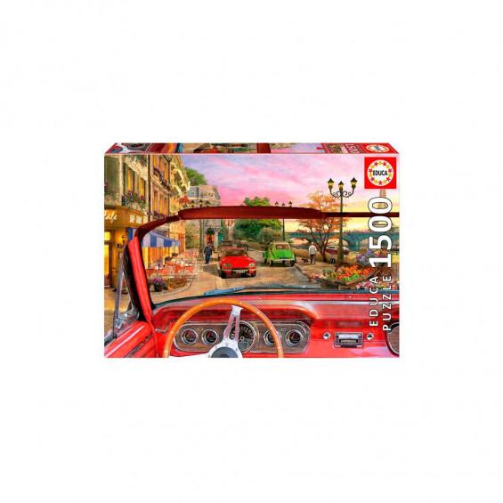 Puzzle 1500 Piezas París Desde el Coche