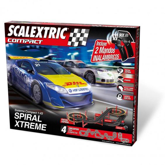 Scalextric Circuito Compact Spiral X-Treme Inalámbrico