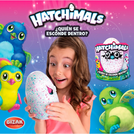 Hatchimals Pingüino Rosa