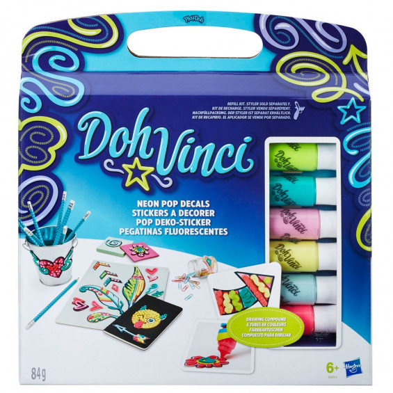 Doh-Vinci Set Pegatinas Decorativas