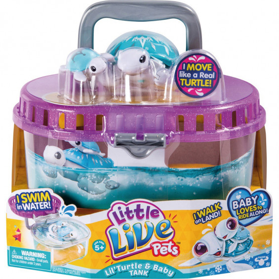 Little Live Pets Tanque y Tortuga Molona Serie 4