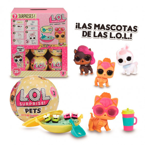 L.O.L Pets S3 Pets 1 BolaVarios Modelos
