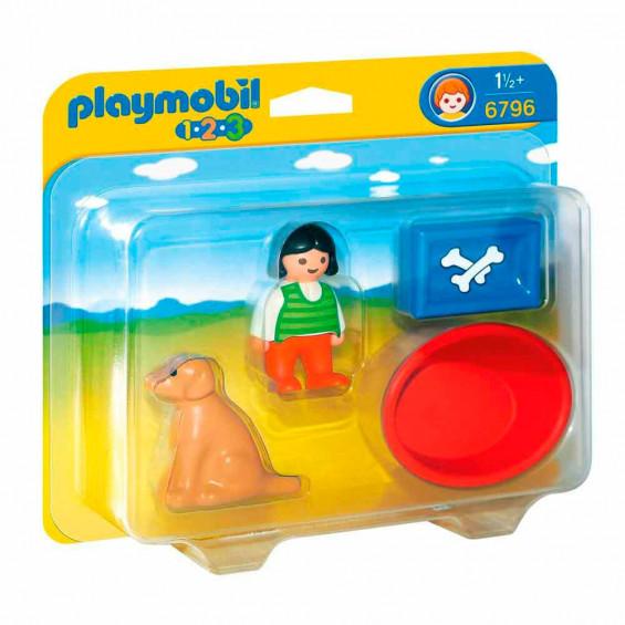 Playmobil 1.2.3. Niña con Perro - 6796
