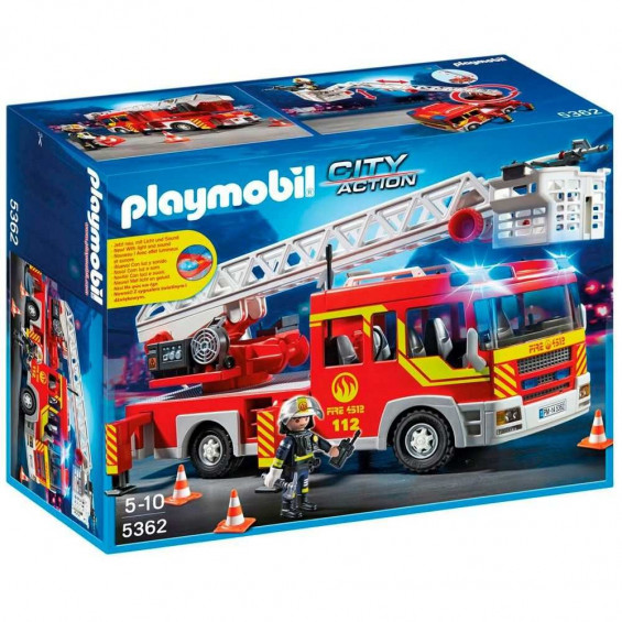 Playmobil City Action Camión de Bomberos y Escalera con Luces y Sonido - 5362