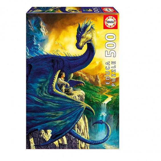 Puzzle Eragon And Saphira 500 Piezas