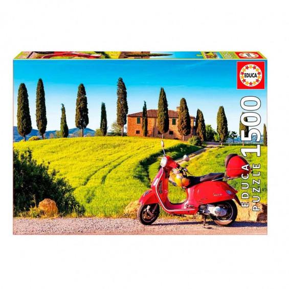 Puzzle Moto En La Toscana 1500 Piezas