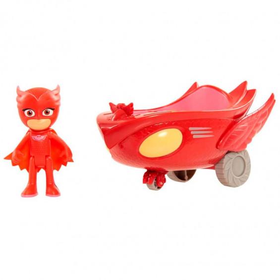 PJ Masks Vehículos Turbo Owl Glider Rojo
