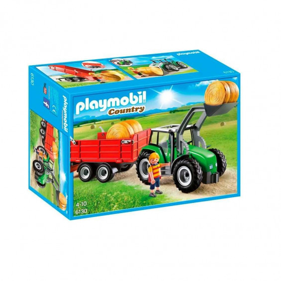 Playmobil Country Tractor Con Trailer - 6130