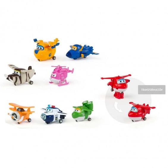 Super Wings Transform a Bots Pack 4 Varios Modelos