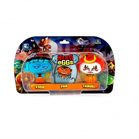 Hero Eggs Monster Blister 3 Figuras (1 Báscio + 1 Exclusivo) Varios Modelos