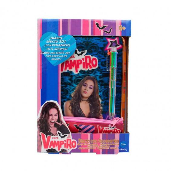 Chica Vampiro Diario Con Accesorios