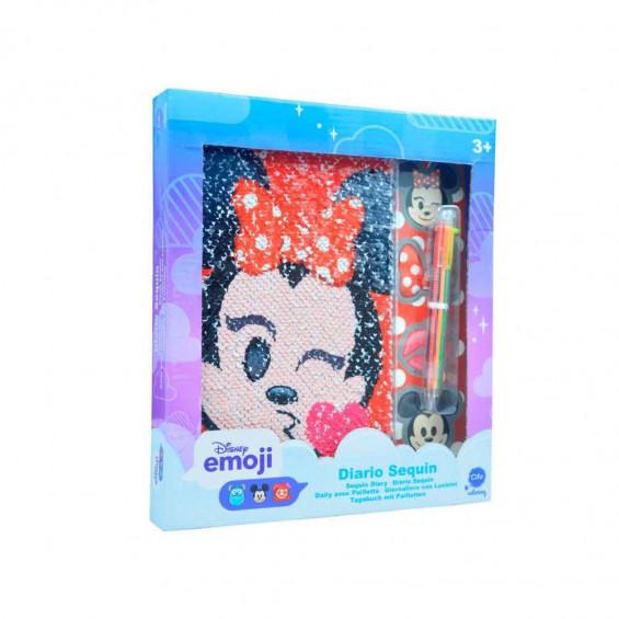 Emoji (Minnie) Diario Sequin