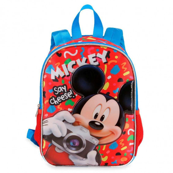 Mickey 3D Say Chee Mochila Infantil Pequeña