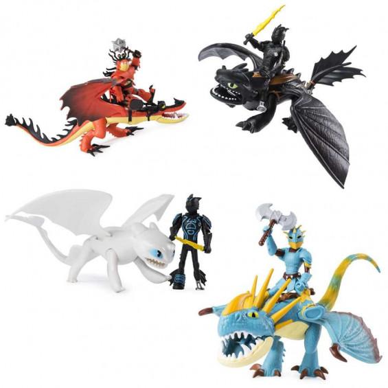 Dragones de Berk 3 Dragón y Vikingo Varios Modelos