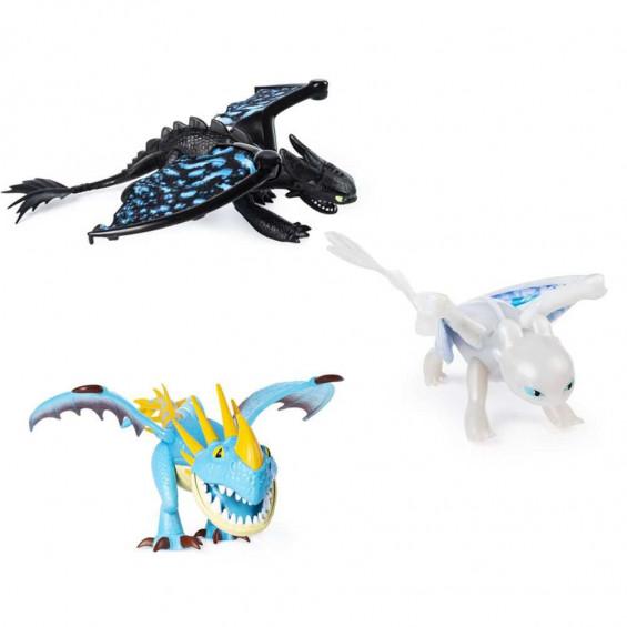 Dragones de Berk 3 Dragón Gigante Articulado Varios Modelos