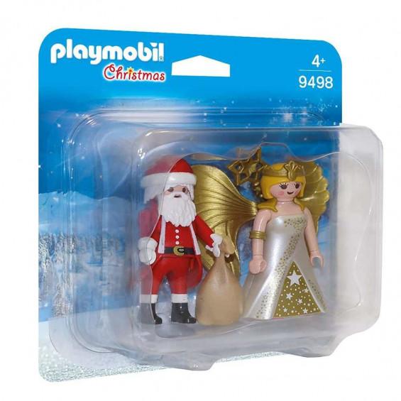 Playmobil Christmas Dúo Pack para Papá Noel con Ángel - 9498