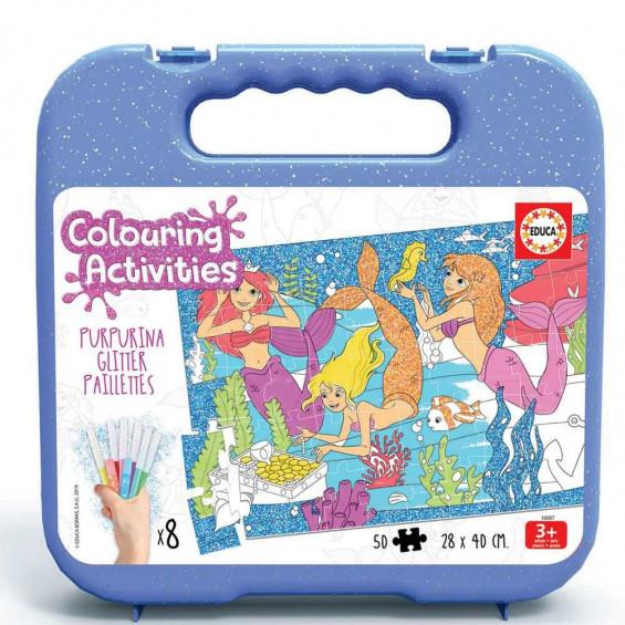 Puzzle 50 Piezas Colouring Activities Sirenas