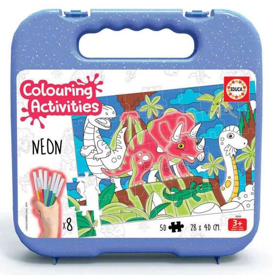 Puzzle 50 Piezas Colouring Activities Dinosaurios