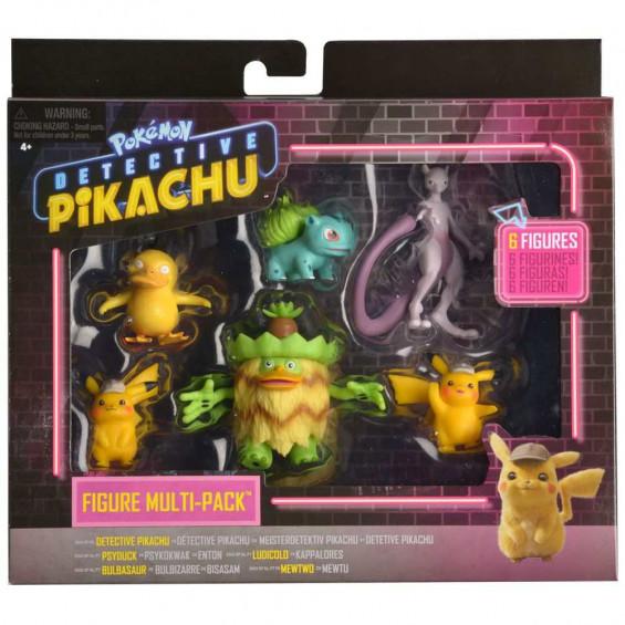 Detective Picachu Multipack 6 Figuras
