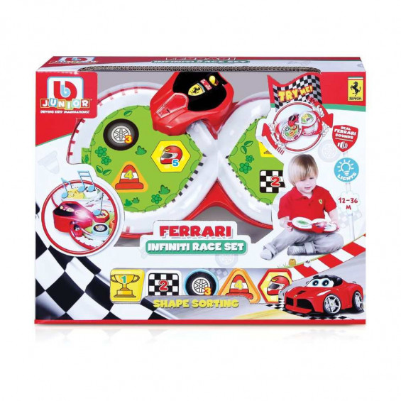 Burago Junior Ferrari Infiniti Race Set