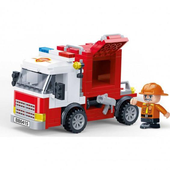 Juguettos Construcción Estación + Camión de Bomberos 416 Piezas