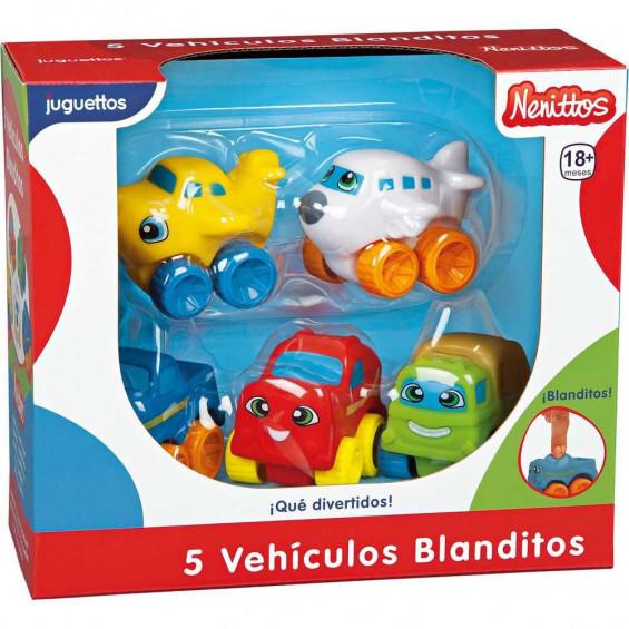 Nenittos 5 Vehículos Blanditos