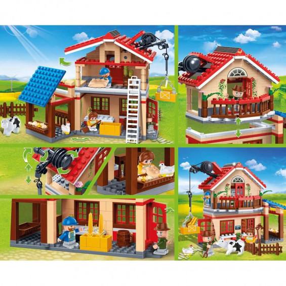 Juguettos Contrucción Casa Rural 315 Piezas y 3 Figuras