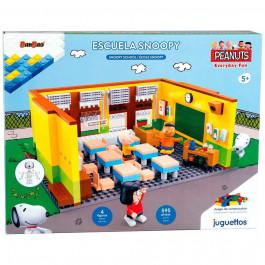 Juguettos Construcción Escuela Snoopy 595 Piezas