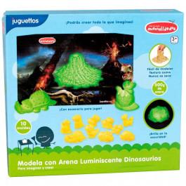 Manualidedos Modela con Arena Luminiscente Dinosaurios