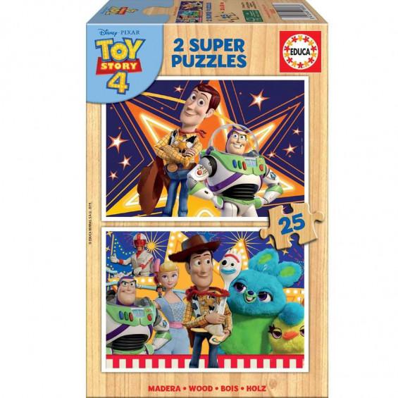 Puzzle de Madera 2 x 25 Piezas Toy Story 4