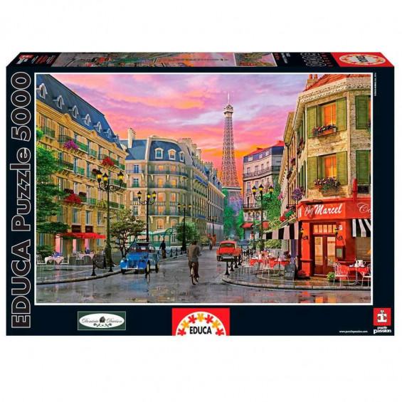 Puzzle Rue París Dominica Davison 5000 Piezas