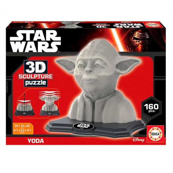 Puzzle Sculpture Yoda Adulto 3D