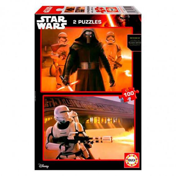 Puzzle 2 x 100 Piezas Star Wars el Despertar de la Fuerza