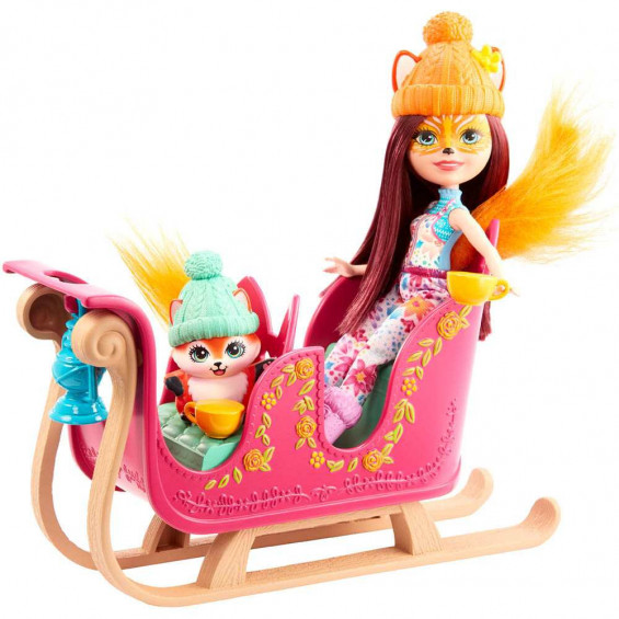 Enchantimals Muñeca con Vehículo