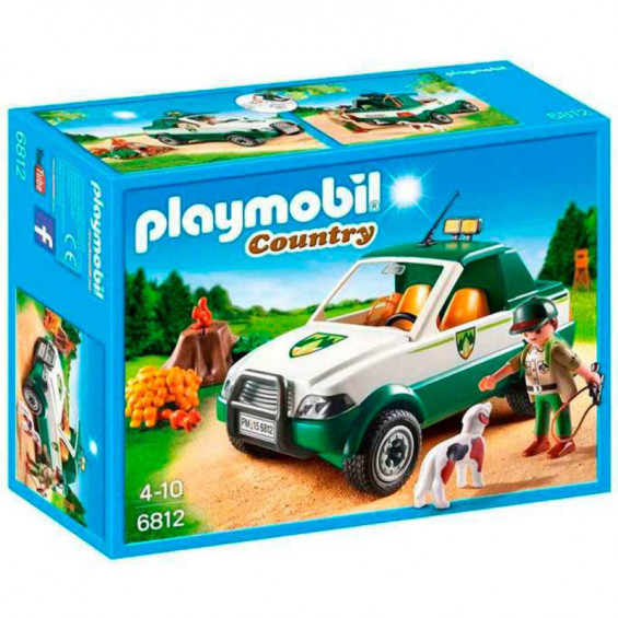 Playmobil Country Guardabosque con Pick Up - 6812