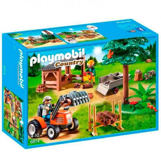 Playmobil Country Leñador Con Tractor - 6814
