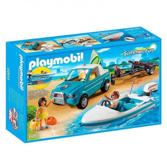 Playmobil Summer Fun Pick Up con Lancha - 6864