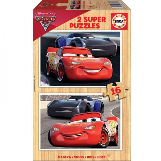 Puzzle de Madera 2 x 16 Piezas Cars 3