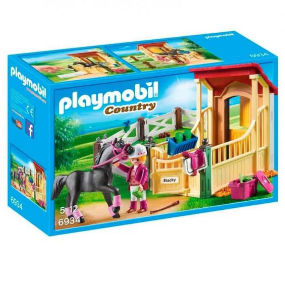 Playmobil Country Caballo Árabe con Establo - 6934