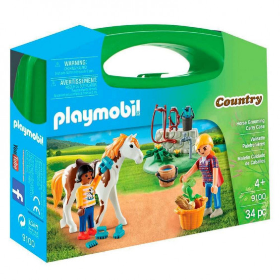 Playmobil Country Maletín Grande Cuidado de Caballos - 9100