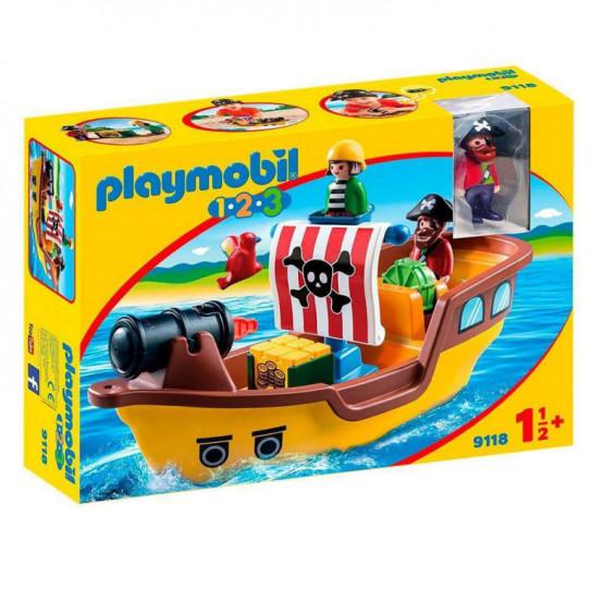 Playmobil 1.2.3 Barco Pirata - 9118