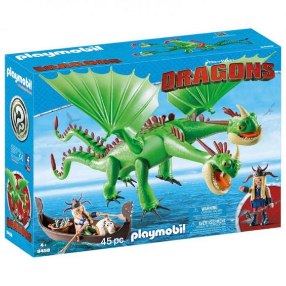 Playmobil Dragons Dragons 2 Cabezas Con Chusco y Brusca - 9458