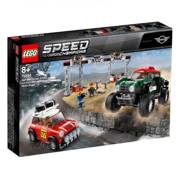 LEGO Speed Champions Mini Cooper S Rally de 1967 y MINI John Cooper Works Buggy de 2018 - 75894
